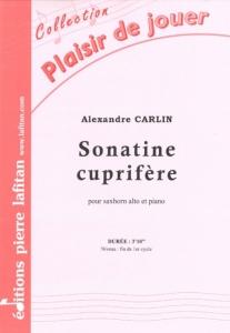 PARTITION SONATINE CUPRIFÈRE (SAXHORN ALTO)