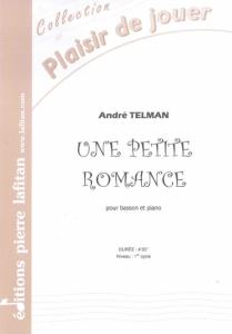 PARTITION UNE PETITE ROMANCE (BASSON)