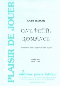 PARTITION UNE PETITE ROMANCE (SAXHORN BASSE)