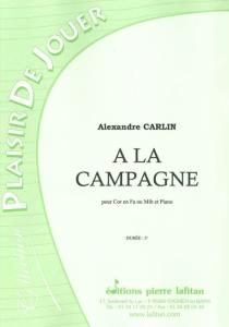 PARTITION A LA CAMPAGNE (COR D'HARMONIE)