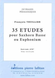 RECUEIL 35 ETUDES POUR SAXHORN BASSE OU EUPHONIUM