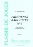 PARTITION PREMIÈRES BAGUETTES N°5 (TAMBOUR)
