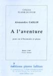 PARTITION A L'AVENTURE (COR D'HARMONIE)