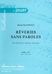PARTITION RÊVERIES SANS PAROLES